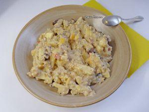 Recette Porridge pommes, dattes, amandes et graines de chia