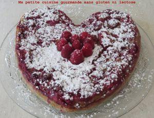 Recette Clafoutis aux framboises sans gluten ni lactose