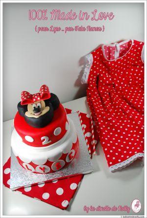 Recette Gâteau { et robe } Minnie pour les 2 petites bougies de Lyse