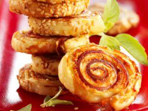 Recette Roulés jambon-sésame