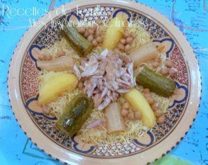 Recette Rechta au poulet (sauce blanche), cuisine algérienne