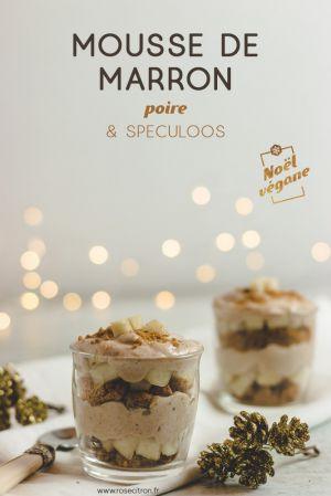 Recette Pour un Noël végane : mousse de marron, poire et spéculoos