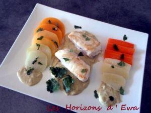 Recette Lotte au curry vert et légumes de saison