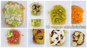 Recette 10 sandwiches vegan du sucré et du salé