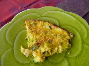 Recette Frittata au poireau, courgette et fromage
