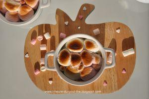 Recette Compote de rhubarbe et sa meringue de chamallows