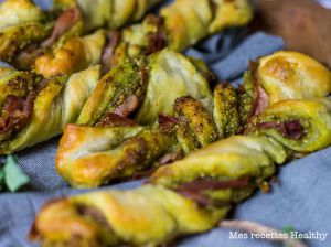 Recette Feuilleté au pesto de kale et jambon