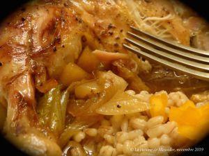 Recette Cuisses de poulet à la compote d'ananas +