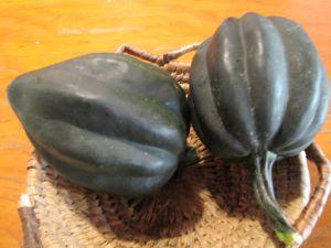 Recette Courge accorn farcie a la châtaigne et aux quinoas