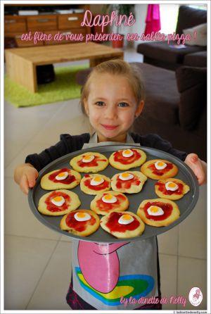 Recette Atelier mini kids avec mes pépettes #1: les sablés pizzas pour jouer à la dinette