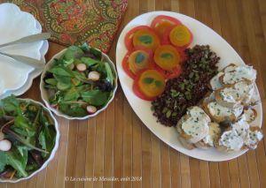 Recette Assiette sans viande, légère et gourmande