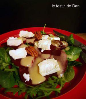 Recette Salade de Betteraves, Chèvre et Noix
