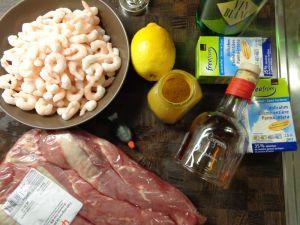 Recette Filet mignon de porc aux crevettes