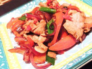 Recette Wok de porc à la sauce de haricots noirs et piment frais