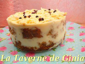 Recette Gâteau noisettes et cuajada de chocolat blanc (pour recycler un cake)