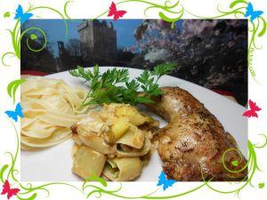 Recette Cuisse de poulet aux poireaux