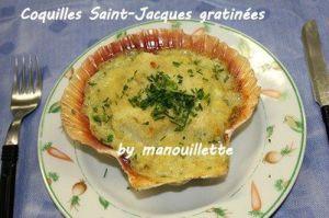 Recette Coquilles Saint-Jacques gratinés