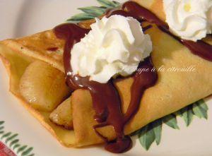 Recette Crêpe à la banane sauce chocolat