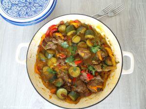 Recette Tajine d'agneau aux poivrons (Lamb tajine with peppers)