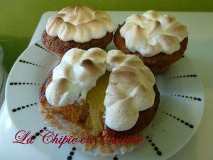 Recette Cupcakes façon tarte aux citrons meringués