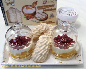 Recette Double crème suisse, mangue et meringues suisses