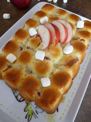 Recette Cake aux nectarines et aux chamallows