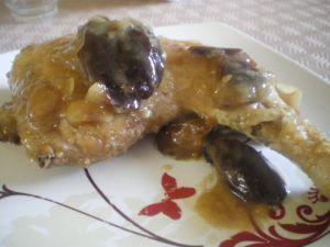 Recette Cuisses de poulet aux pruneaux