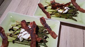 Recette Asperges cuites au four avec burrata
