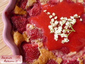 Recette Fraise & sureau, deux desserts régressifs (2) : clafoutis aux fraises et fleur de sureau