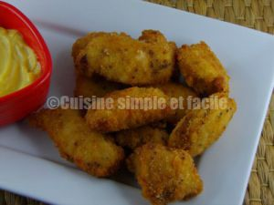 Recette Nuggets de poulet mariné