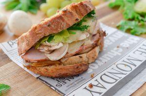 Recette Sandwich grillé à la dinde