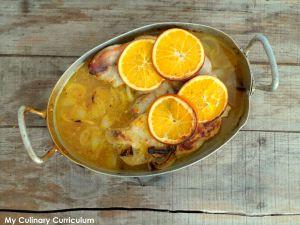 Recette Rouelle de porc à l'orange (Pork rouelle with orange)