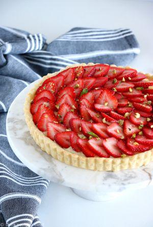 Recette Tarte aux fraises à la crème pâtissière