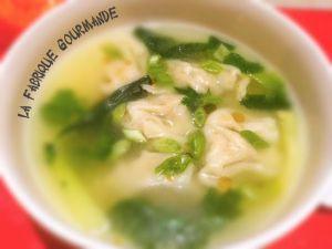 Recette Wonton Soup ou Soupe aux Raviolis Chinois