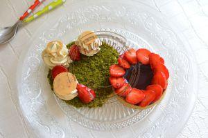Recette Pistaches cassis et fraises