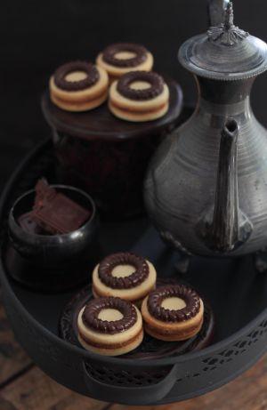 Recette Sablé prestige chocolat praliné               بسكويت برستيج  بالشوكولاطة والبراليني
