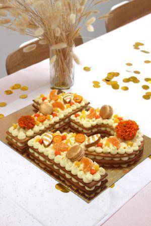 Recette Number Cake orange vanille & son orange curd