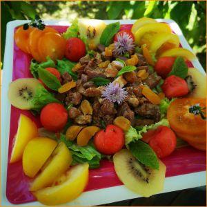 Recette Assiette gourmande et boisson vitaminée