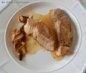 Recette Rouelle de porc au curry et sirop d'érable (Rouelle pork curry and maple syrup)
