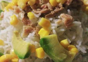 Recette Salade de riz au thon et l'avocat