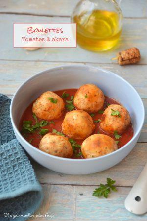 Recette Boulettes d'okara {Tomates & oignon} #vegan #glutenfree