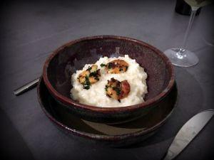 Recette Risotto au parmesan et crevettes poêlées