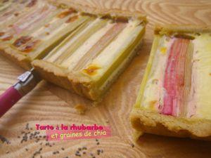 Recette Tarte à la rhubarbe et graines de chia