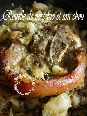 Recette Rouelle de porc viande bio et son chou Cuisson à la cocotte dans le four