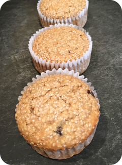 Recette Muffin avoine-chia (vegan)
