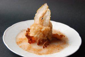 Recette Poire aux épices et Muscat sur gelée de poires, cristalline de poire avec Carrefour drive