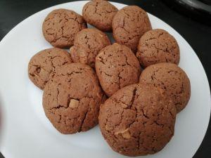 Recette Cookies au chocolat et pépites de chocolat au lait