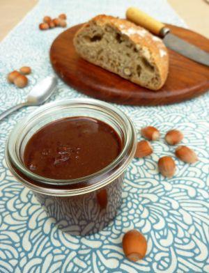 Recette Pâte à tartiner maison, noisette-chocolat