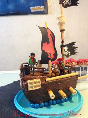 Recette Gâteau bateau pirate sans pâte à sucre