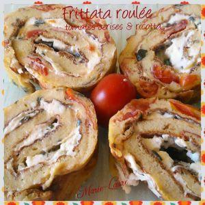 Recette Frittata roulée tomates cerise & Ricotta